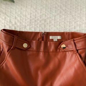 LOFT Skirts - LOFT faux leather skirt, size 0